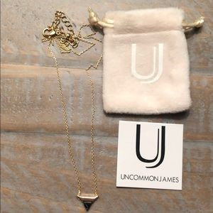 Uncommon James Gold/Black triangle necklace